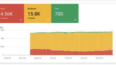 تصویر از گزارشات سرعت سایت در کنسول گوگل اضافه شد