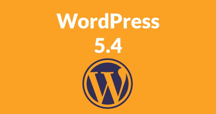وردپرس نسخه ۵.۴